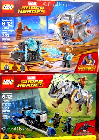 Costco: Lego Marvel Super HeroesAvengers Infinity War Thor's Weapon Request OR Black Panther Rhino Face-Off by the Mine