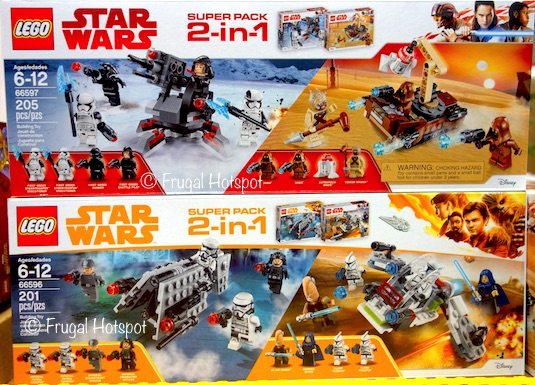 Lego Star Wars 2-in-1 Super Pack: Troopers/Imperial Patrol OR First Order/Tatooine at Costco
