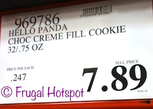 Costco Price: Meiji Hello Panda Chocolate Creme Filled Cookie 32/0.75 oz
