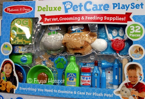 Melissa and Doug 32-Piece Deluxe Pet Care Playset at Costco