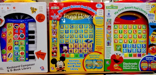 Costco: My First Smart Pad Library Module w/8-Book Library: Choose from Baby Einstein Keyboard OR Disney Mickey Mouse OR Sesame Street.