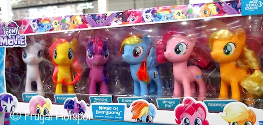Costco: My Little Pony Magic of Everypony 6-Pack Includes Fluttershy, Rarity, Twilight Sparkle, Rainbow Dash, Pinkie Pie, Applejack.