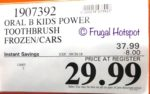 Costco Price: Oral B Kids Rechargeable Toothbrush Disney Frozen or Cars