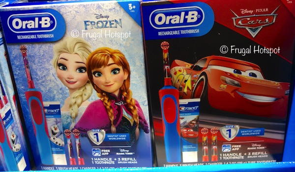 Costco Sale: Oral B Kids Rechargeable Toothbrush Disney Frozen or Cars $29.99