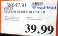 Costco Price: Oster Master Series Blender