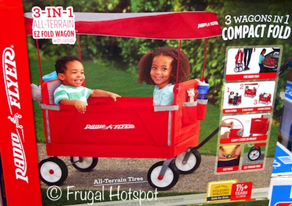 Radio Flyer 3-in-1 All-Terrain EZ Fold Wagon with Canopy at Costco