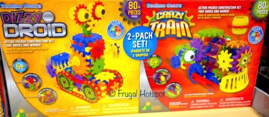 Techno Gears 2-Pack by The Learning Journey Dizzy Droid + Crazy Train at Costco