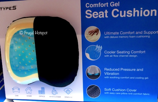 Type S Comfort Gel Seat Cushion Description at Costco