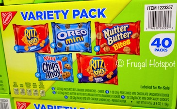 Costco: Nabisco Variety 40-ct ( 9 Chips Ahoy! Mini, 8 Nutter Butter Bites, 9 Oreo Mini, 8 Ritz Bits Cheese, 6 Ritz Bits Peanut Butter)