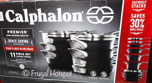 6d09745ec0 Costco Sale  Calphalon Nonstick Space Saving Cookware 11-Pc Set  299.99