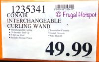 Costco Price: Conair Infiniti Pro Interchangeable Curling Wand Hair Results