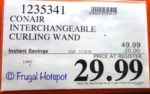 Costco Sale Price: Conair Infiniti Pro Interchangeable Curling Wand Hair Results