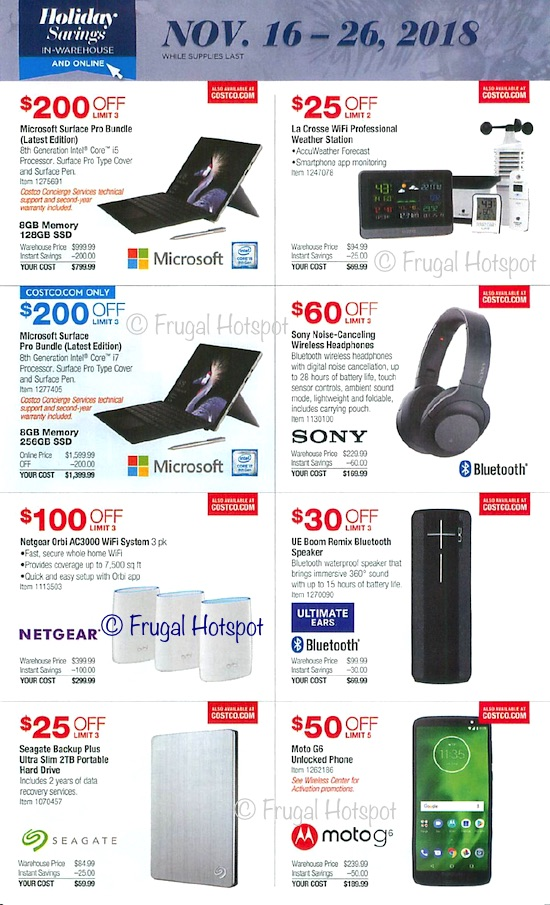 Costco Holiday Savings 2018 COupon Book Page 19