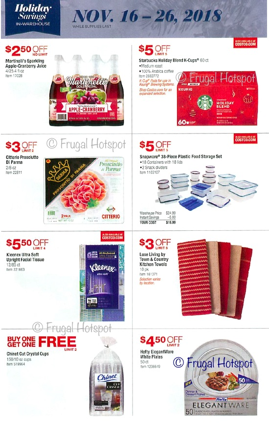 Costco Holiday Savings 2018 Coupon Book Page 13
