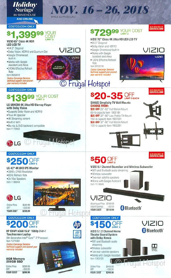 Costco Holiday Savings 2018 Coupon Book Page 17