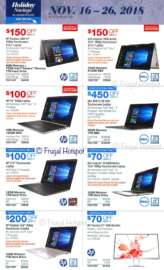 Costco Holiday Savings 2018 Coupon Book Page 18