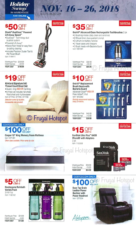 Costco Holiday Savings 2018 Coupon Book Page 20