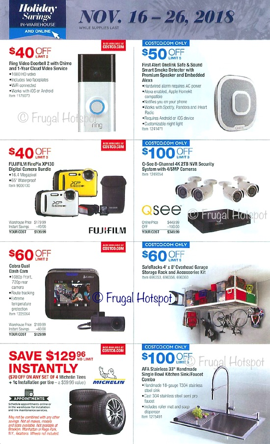 Costco Holiday Savings 2018 Coupon Book Page 21