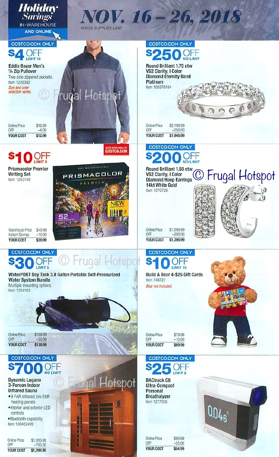 Costco Holiday Savings 2018 Coupon Book Page 23