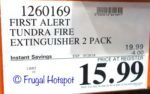 Costco Sale Price: First Alert Tundra Fire Extinguisher 2-Pack