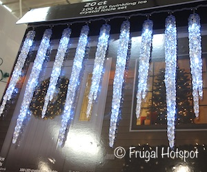 GE 100 LED Twinkling Ice Crystal Icicle Set 20-Count | Costco Christmas Decor 2019