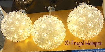 GE LED Spheres 3-Pack | Costco Christmas Decor 2019
