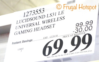 Costco Sale Price: LucidSound LS31LE Wireless Gaming Headset