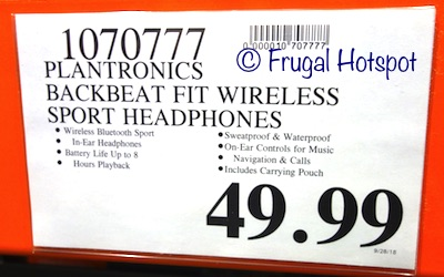Costco Price: Plantronics BackBeat FIT Wireless Sport Headphones