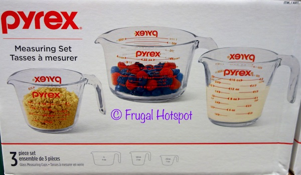 Pyrex Glass Measuring Cup 3-Piece Set at Costco