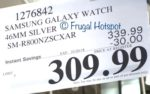 Costco Sale Price: Samsung Galaxy Watch 46mm Silver