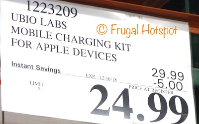 Costco Sale Price: Ubio Labs Mobile Charging Kit for Apple Devices