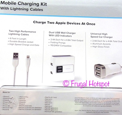 Ubio Labs Mobile Charging Kit for Apple Devices at Costco