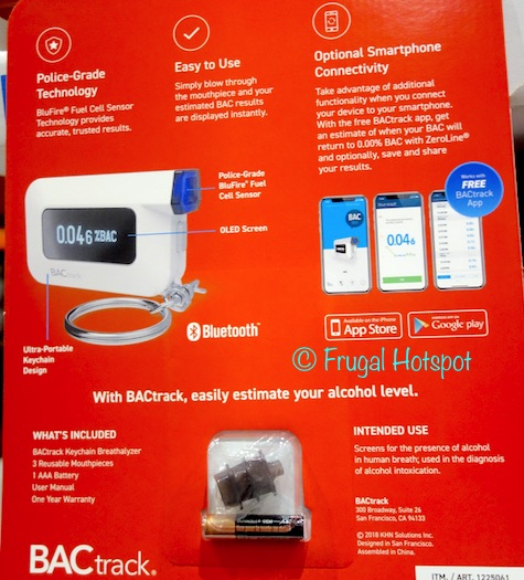 BACtrack C6 Keychain Breathalyzer at Costco