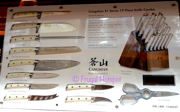 Costco Display: Cangshan S1 Series 17-Piece Cutlery Set Knives