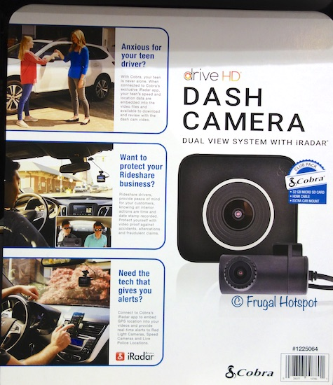 Cobra Drive HD Dual View Dash Camera at Costco