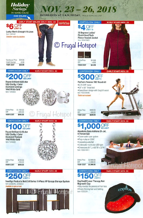 Costco Holiday Savings 2018 Coupon Book Black Friday