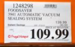 FoodSaver FM3941 Vacuum Sealing Costco Sale Price