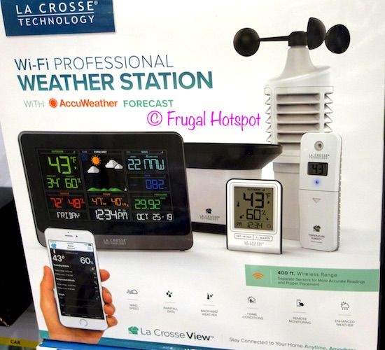 La Crosse Technology Wi-Fi Professional Weather Station at Costco