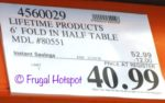 Costco Sale Price: Lifetime Commercial Grade 6-Foot Fold-in-Half Table