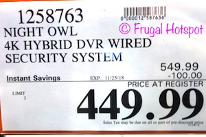 Night Owl 4K Hybrid DVR Wired Security System | Costco Sale Price