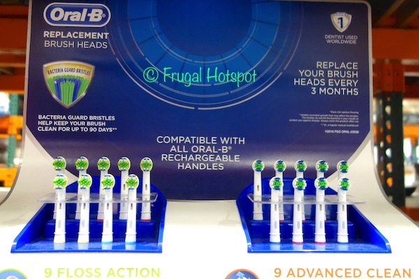 Oral B Brush Heads Refill 9-Count FlossAction or Advanced Clean at Costco