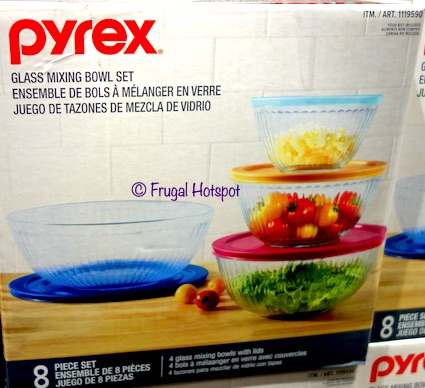 Pyrex Sculpted Glass Mixing Bowl 4-Piece Set Costco