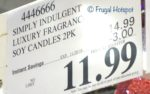 Costco Sale Price: Simply Indulgent Luxury Fragrance Soy Candles 2-Pack