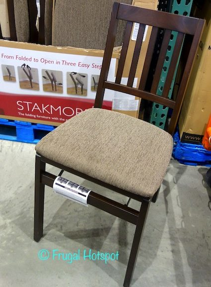 Costco Sale: Stakmore Solid Wood Upholstered Folding Chair $23.99