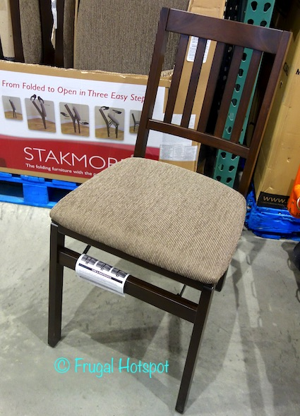 Costco Sale Stakmore Solid Wood Upholstered Folding Chair