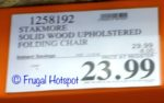 Costco Sale Price: Stakmore Solid Wood Upholstered Folding Chair