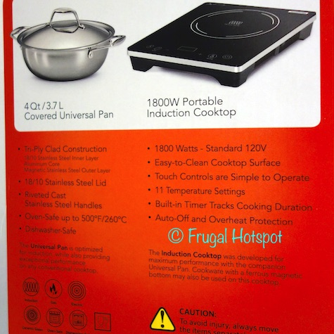 Product Description of Tramontina 3-Piece Induction Cooking System   Costco