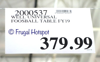 Costco Price : Well Universal Foosball Table