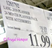Costco Sale Price: Wells St. by Lang 24-Month Creative Planner