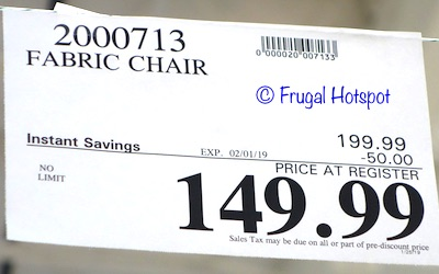 Costco Sale Price: Annabelle Fabric Chair